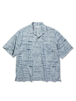 RADIALL WALLTAG – OPEN COLLARED SHIRT S/S