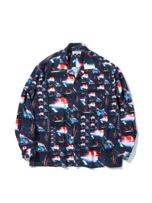 RADIALL LOW AND SLOW - OPEN COLLARED SHIRT L/S