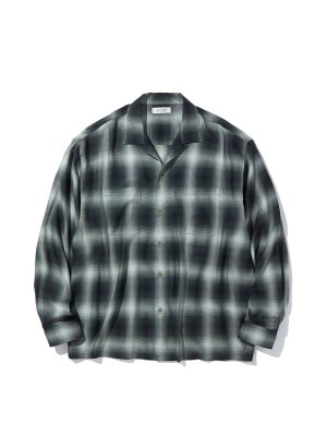 RADIALL LO-N-SLO - OPEN COLLARED SHIRT L/S