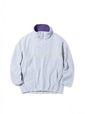 RADIALL TAHOE - STAND COLLARED PULLOVER SWEATSHIRT L/S