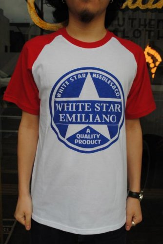Emiliano white star raglan emiliano tee
