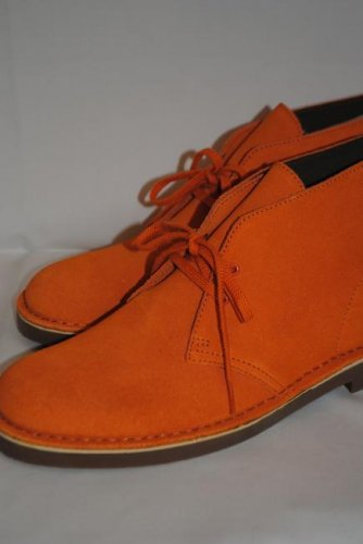 CLARKS DESERT BOOT ORANGE