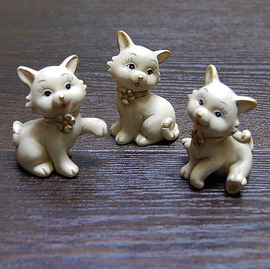 【フランス直輸入】アンティーク風おしゃまな仔猫の置物