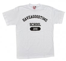 <img class='new_mark_img1' src='http://shop.have-a-goodtime.com/img/new/icons11.gif' style='border:none;display:inline;margin:0px;padding:0px;width:auto;' />haveagoodtime SCHOOL TEE WHITE