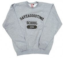 <img class='new_mark_img1' src='http://shop.have-a-goodtime.com/img/new/icons11.gif' style='border:none;display:inline;margin:0px;padding:0px;width:auto;' />haveagoodtime SCHOOL CREWNECK HEATHER