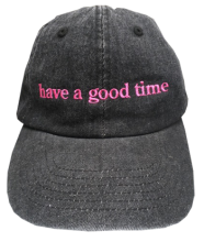 <img class='new_mark_img1' src='http://shop.have-a-goodtime.com/img/new/icons5.gif' style='border:none;display:inline;margin:0px;padding:0px;width:auto;' />haveagoodtime side logo cap black denim