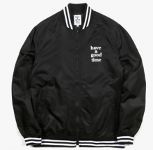 <img class='new_mark_img1' src='//img.shop-pro.jp/img/new/icons15.gif' style='border:none;display:inline;margin:0px;padding:0px;width:auto;' />haveagoodtime VERSITY jacket black