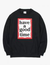 <img class='new_mark_img1' src='//img.shop-pro.jp/img/new/icons15.gif' style='border:none;display:inline;margin:0px;padding:0px;width:auto;' />haveagoodtime frame crewneck black