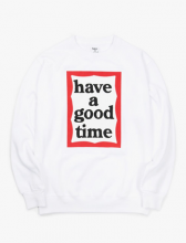 <img class='new_mark_img1' src='//img.shop-pro.jp/img/new/icons15.gif' style='border:none;display:inline;margin:0px;padding:0px;width:auto;' />haveagoodtime frame crewneck WHITE