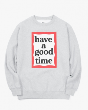 <img class='new_mark_img1' src='//img.shop-pro.jp/img/new/icons15.gif' style='border:none;display:inline;margin:0px;padding:0px;width:auto;' />haveagoodtime frame crewneck HEATHER