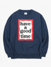 <img class='new_mark_img1' src='//img.shop-pro.jp/img/new/icons15.gif' style='border:none;display:inline;margin:0px;padding:0px;width:auto;' />haveagoodtime frame crewneck NAVY