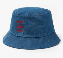 <img class='new_mark_img1' src='//img.shop-pro.jp/img/new/icons11.gif' style='border:none;display:inline;margin:0px;padding:0px;width:auto;' />haveagoodtime logo bucket denim