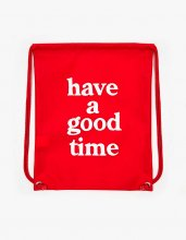 haveagoodtime LOGO NAP SACK RED