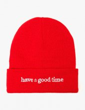 <img class='new_mark_img1' src='//img.shop-pro.jp/img/new/icons14.gif' style='border:none;display:inline;margin:0px;padding:0px;width:auto;' />haveagoodtime SIDE LOGO BEANIE RED