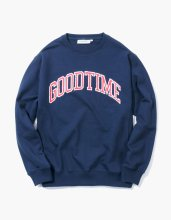 haveagoodtime GOODTIME COLLEGE CREWNECK NAVY