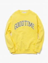 haveagoodtime GOODTIME COLLEGE CREWNECK YELLOW
