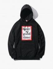 <img class='new_mark_img1' src='//img.shop-pro.jp/img/new/icons53.gif' style='border:none;display:inline;margin:0px;padding:0px;width:auto;' />haveagoodtime 2017SS FRAME PULLOVER HOODIE BLACK