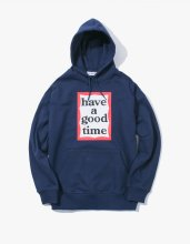 <img class='new_mark_img1' src='//img.shop-pro.jp/img/new/icons53.gif' style='border:none;display:inline;margin:0px;padding:0px;width:auto;' />haveagoodtime 2017SS FRAME PULLOVER HOODIE NAVY