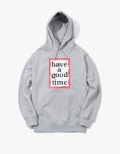<img class='new_mark_img1' src='//img.shop-pro.jp/img/new/icons53.gif' style='border:none;display:inline;margin:0px;padding:0px;width:auto;' />haveagoodtime 2017SS FRAME PULLOVER HOODIE GREY