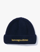 2017SS SIDE LOGO WATCH BEANIE NAVY