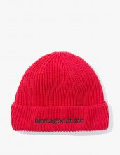 2017SS SIDE LOGO WATCH BEANIE RED