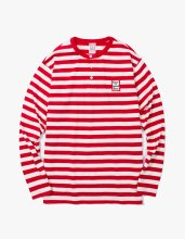 HENRY BORDER L/S TEE RED