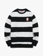 <img class='new_mark_img1' src='//img.shop-pro.jp/img/new/icons14.gif' style='border:none;display:inline;margin:0px;padding:0px;width:auto;' />2017FW stripe crewneck Black/White