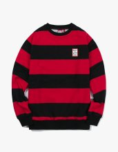 <img class='new_mark_img1' src='//img.shop-pro.jp/img/new/icons14.gif' style='border:none;display:inline;margin:0px;padding:0px;width:auto;' />2017FW stripe crewneck Black/Red