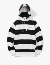<img class='new_mark_img1' src='//img.shop-pro.jp/img/new/icons14.gif' style='border:none;display:inline;margin:0px;padding:0px;width:auto;' />2017FW haveagoodtime stripe pullover hoodie Black/White