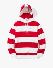 <img class='new_mark_img1' src='//img.shop-pro.jp/img/new/icons14.gif' style='border:none;display:inline;margin:0px;padding:0px;width:auto;' />2017FW haveagoodtime stripe pullover hoodie Red/White