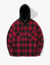 <img class='new_mark_img1' src='//img.shop-pro.jp/img/new/icons14.gif' style='border:none;display:inline;margin:0px;padding:0px;width:auto;' />2017FW hooded flannel jacket Red