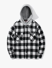 <img class='new_mark_img1' src='//img.shop-pro.jp/img/new/icons14.gif' style='border:none;display:inline;margin:0px;padding:0px;width:auto;' />2017FW hooded flannel jacket White