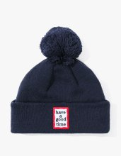 <img class='new_mark_img1' src='//img.shop-pro.jp/img/new/icons14.gif' style='border:none;display:inline;margin:0px;padding:0px;width:auto;' />2017FW POM FRAME BEANIE NAVY