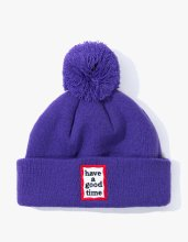 <img class='new_mark_img1' src='//img.shop-pro.jp/img/new/icons14.gif' style='border:none;display:inline;margin:0px;padding:0px;width:auto;' />2017FW POM FRAME BEANIE PURPLE
