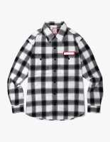 SHADOW FLANNEL SHIRTS WHITE
