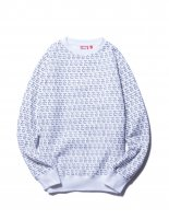 <img class='new_mark_img1' src='//img.shop-pro.jp/img/new/icons14.gif' style='border:none;display:inline;margin:0px;padding:0px;width:auto;' />LOGO ALLOVER CREWNECK WHITE