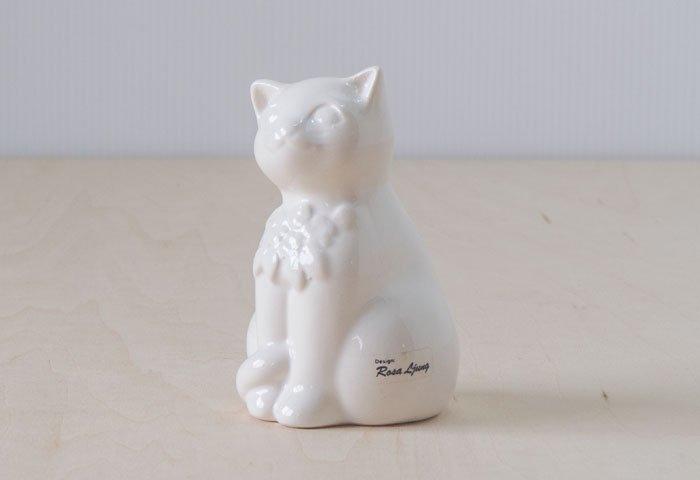 DECO(デコ)/ 陶器の猫の置物(オブジェ) / スウェーデン / ビンテージ / I0129 画像