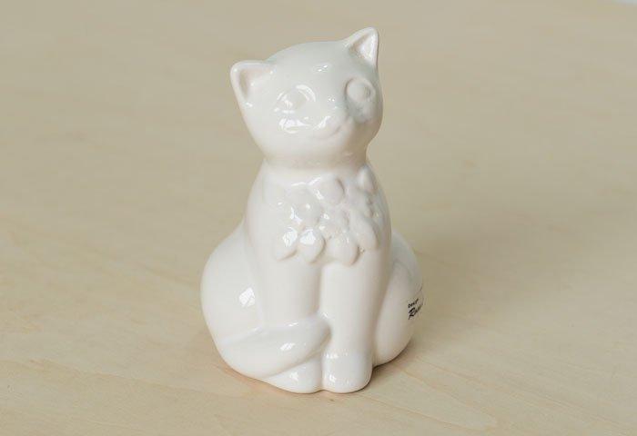 DECO(デコ)/ 陶器の猫の置物(オブジェ) / スウェーデン / ビンテージ / I0129  画像02