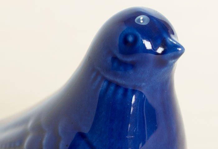 北欧で使われていた、陶器の鳥の置物(オブジェ)/ ビンテージ / I0131  画像04