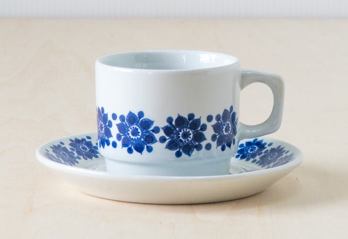 Figgjo(フィッギオ)/ 白磁のカップ&ソーサー / ノルウェイ / ビンテージ / T0402 画像