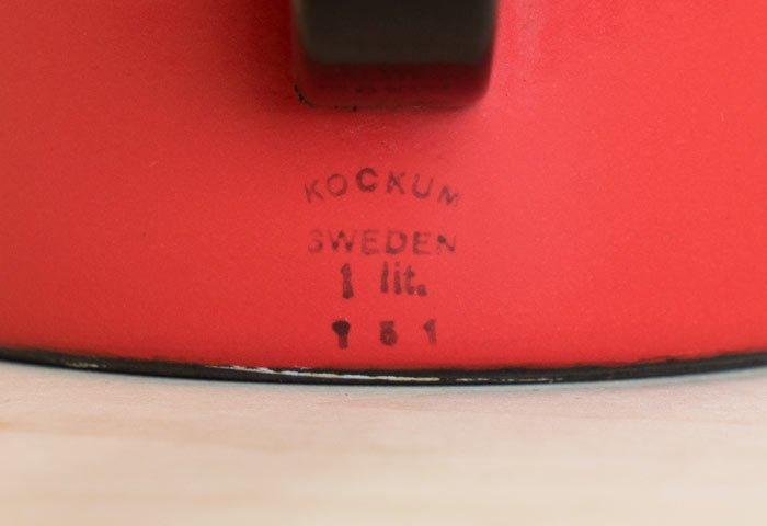 KOCKUMS(コクムス)/ ホーローケトル / スウェーデン / ビンテージ / K0098  画像03