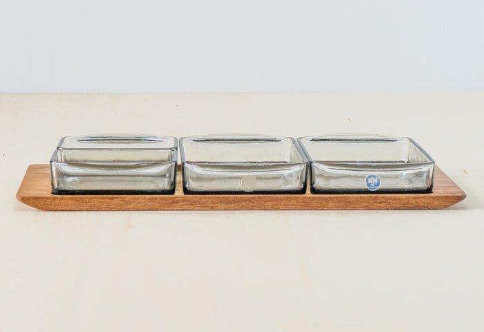 KH / ガラスのプレートとチークトレーのセット / デンマーク / ビンテージ / T0405 画像