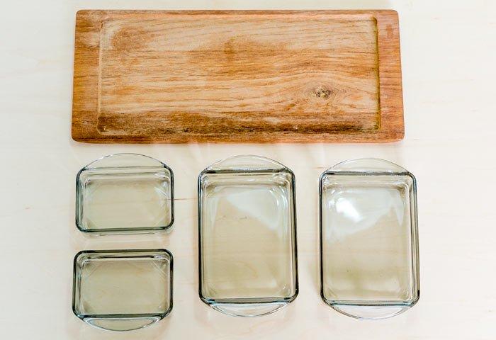KH / ガラスのプレートとチークトレーのセット / デンマーク / ビンテージ / T0405  画像03