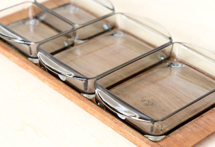 KH / ガラスのプレートとチークトレーのセット / デンマーク / ビンテージ / T0405  画像04