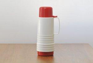 プラスチック魔法瓶(白+赤)/スウェーデン/ビンテージ