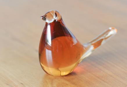 北欧で使われていた、ガラスの鳥の置物