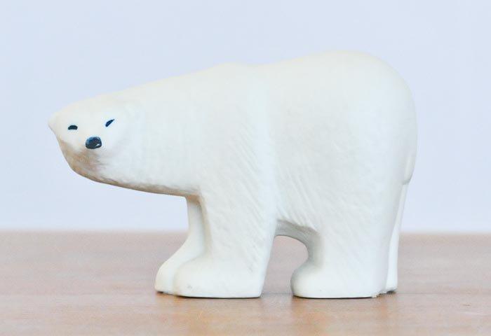 リサ ラーソン(Lisa Larson)/ グスタフスベリ / 白い熊の置物〜ヴィンテージ / スウェーデン / I0056 画像
