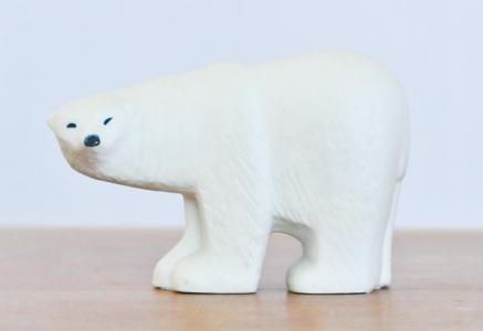 リサ ラーソン(Lisa Larson)/ グスタフスベリ / 白い熊の置物〜ヴィンテージ / スウェーデン / I0056