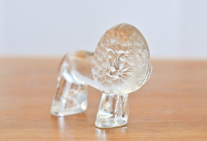 Kosta Boda(コスタボダ)/ZOOシリーズ/クリスタルガラスのライオンの置物/ビンテージ/スウェーデン  画像02