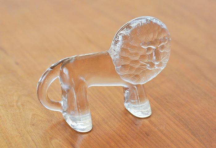 Kosta Boda(コスタボダ)/ZOOシリーズ/クリスタルガラスのライオンの置物/ビンテージ/スウェーデン  画像03